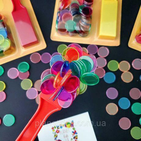 Магнитный жезл и цветные фишки 100 шт Popular Playthings