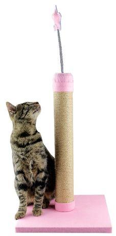 Drapak dla kota sizalowy z zabawka kolory Stojący Duży