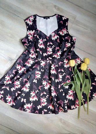Прелестное платье с магнолиями - большой размер
