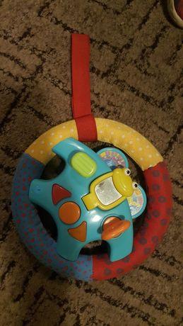 Kierownica z dźwiękami na rzep do wózka zabawka