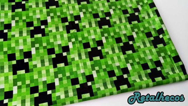 Retalhos Minecraft 100% algodão