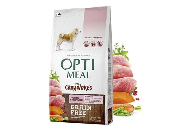 OptiMeal (Оптимил) для собак всех пород - индейкой 10 кг