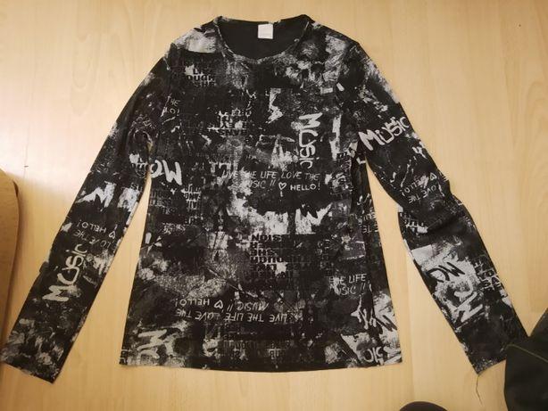 czarna biała bluzka wzory