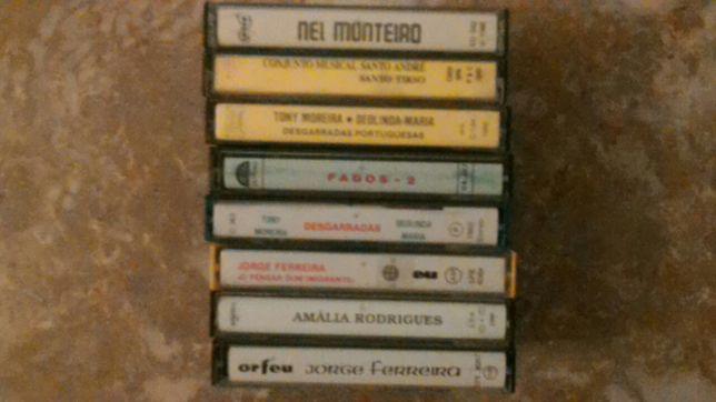 8 cassetes musica portuguesa novas ,,dino meira ,,amalia ect