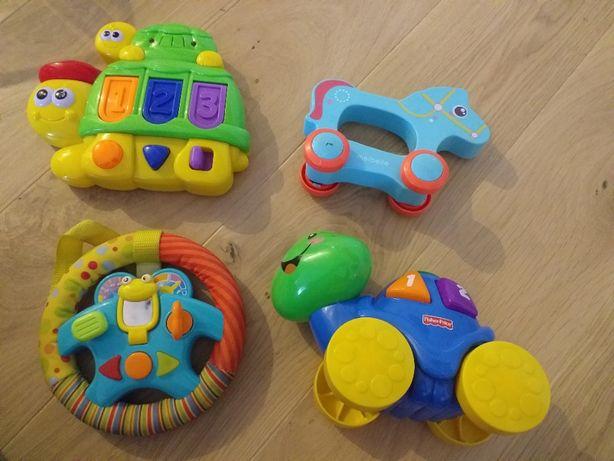 Zestaw zabawek, żółw fisherprice, kierownica
