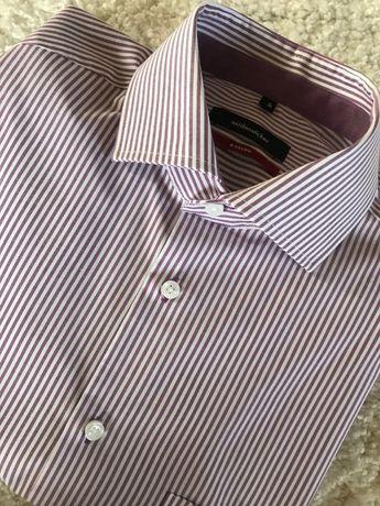 Seidensticker modern koszula fiolet paski S/38 nowa