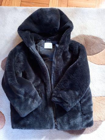 Casoco de pelo Zara cinza escuro