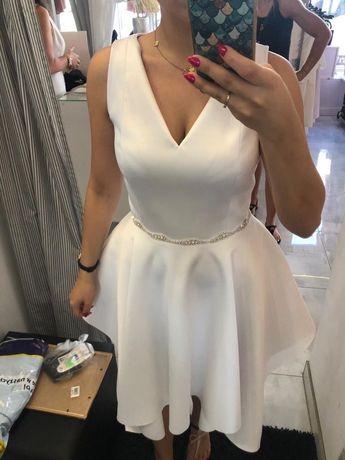 Biała sukienka na poprawiny