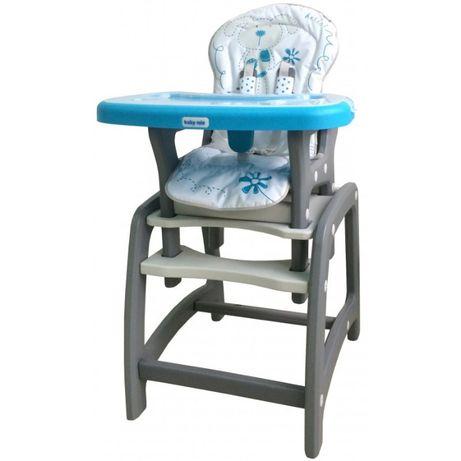 Baby Mix Krzesełko do karmienia Zestaw 2w1 Błękitny