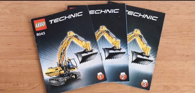 Instrukcja od zestawu Lego Technic 8043 (zestaw 3- ech książeczek)