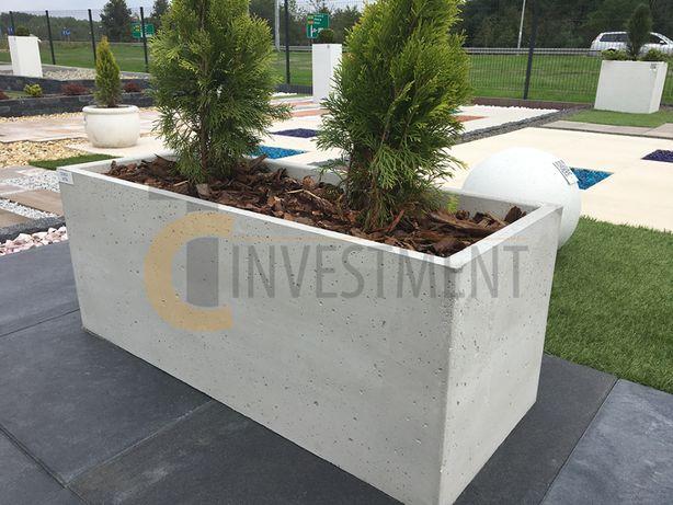 Donice betonowe ogrodowe 100x40x40 Donica betonowa - Duży wybór donic