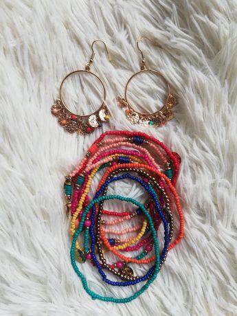 Zestaw biżuterii letniej kolorowa