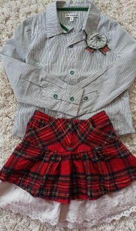 Комплект костюм нарядный италия на девочку 5 лет
