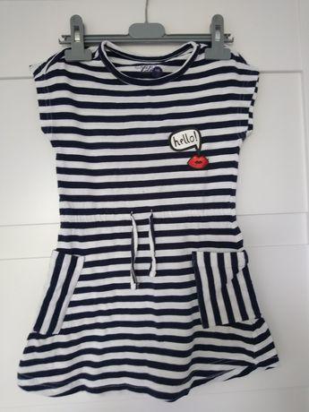 Sukienka w paski rozmiar 116