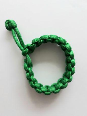 Bransoletka ozdobą na rękę zielona