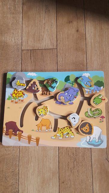 Edukacyjne puzzle dopasuj głowy