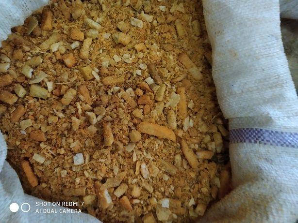 Хлеб ржаной пшеничный резаный сухари крошка