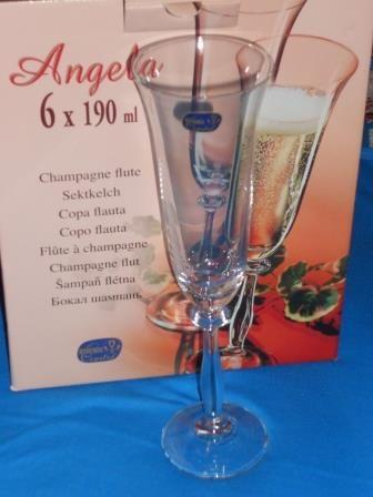 Бокали для шампанского Bohemia Angela 6 шт.