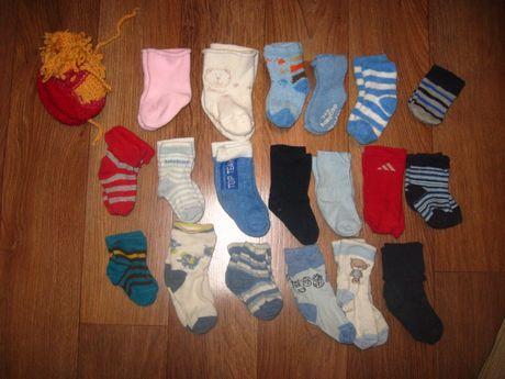 носки носочки пинетки царапки деми и теплые Цена за все