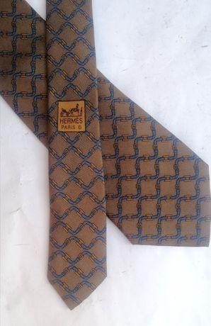 Hermès 998 SA Ремень и пряжка Мужской шелковый галстук