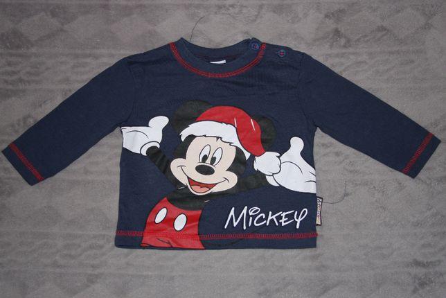 Bluzka na święta Mickey Disney r. 74