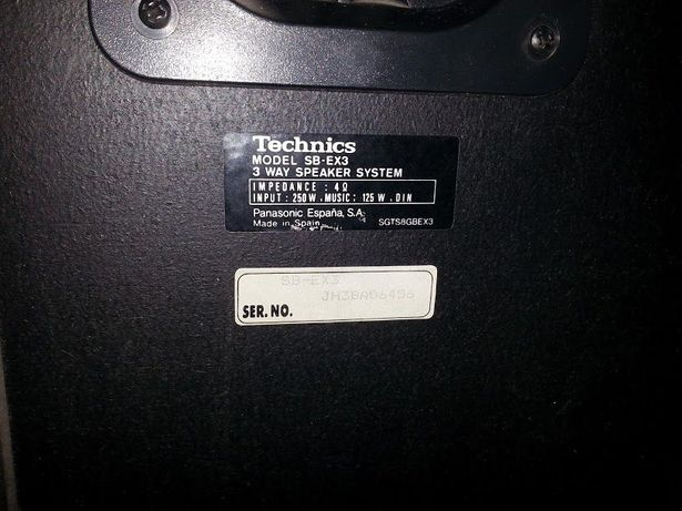 duża wieża TECHNICS MASH bardzo mało używana plus kolumny SB-EX3