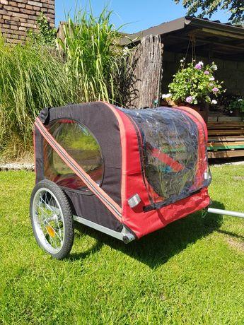 Przyczepka rowerowa riksza wózek rowerowy do roweru dla psa pieska