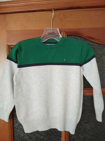 Elegancki, klasyczny sweter Tommy Hilfiger, 7 lat, stan idealny, nowy