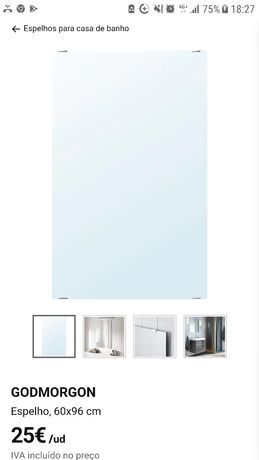 Espelho Godmorgon IKEA com canto partido 60x96 cm