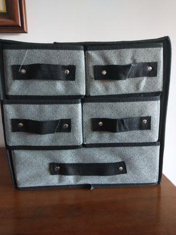 Organizador maquilhagem Mini cómoda tecido 31x29x23