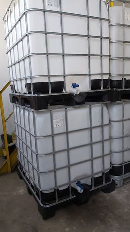 Pojemniki 1000l na budowę wodę paliwo oleje czyste umyte raz uzyte