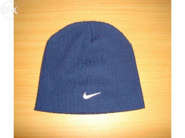 Conjunto azul da Nike: Gorro e Cachecol