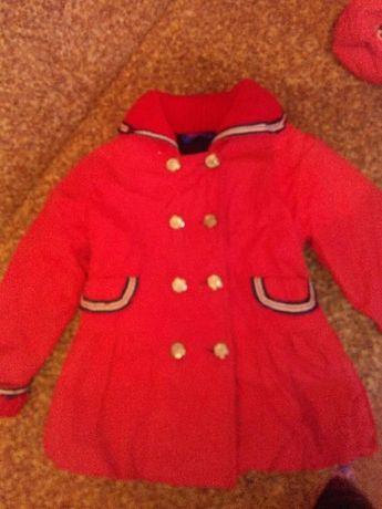 куртка-ветровка на девочку, утепленная