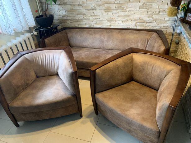 Komplet wypoczynkowy 3+1+1, sofa + 2x fotel