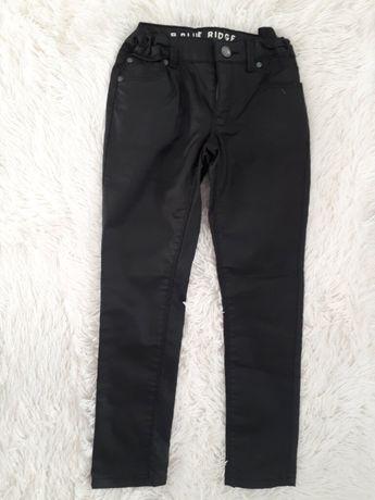 черные джинсы/девочка с покрытием под кожу промасленные р.128см Скинни