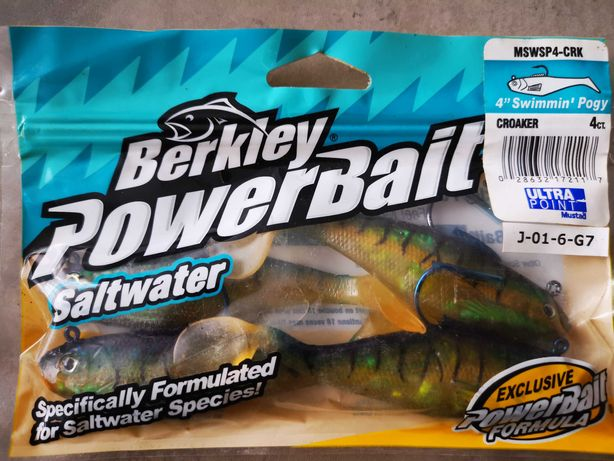 Gumy Berkley Powerbait uzbrojone hakiem Mustad 10 cm