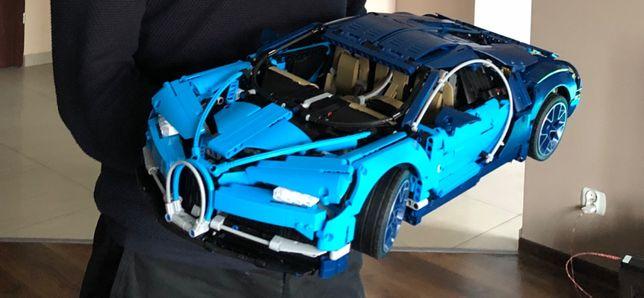 Bugatti Chiron Lepin 1:8 klocki technics jak Lego 42083