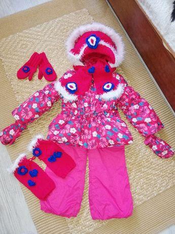 Kurtka spodnie kombinezon zimowe Mariquita 104 + komplet z dzianiny