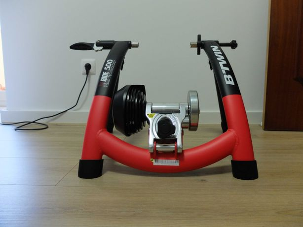 Rolo de treino de bicicleta da marca B'TWIN IN'RIDE 500 VAN RYSEL