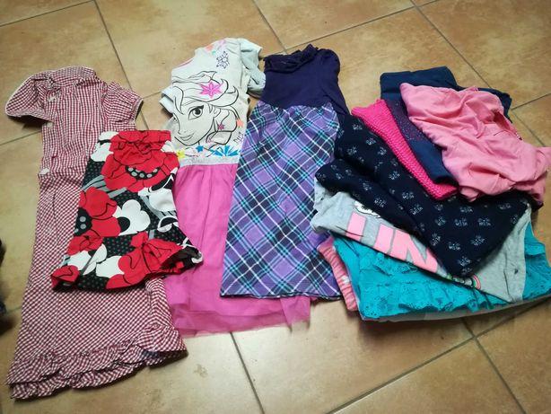 Ubrania dla dziewczynki rozmiar 110-116