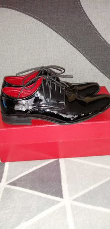 Skórzane buty pantofle męskie roz. 40