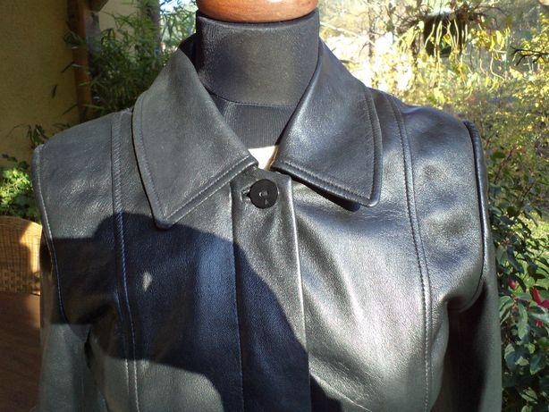 Zgrabny skórzany płaszczyk Per Una r.S