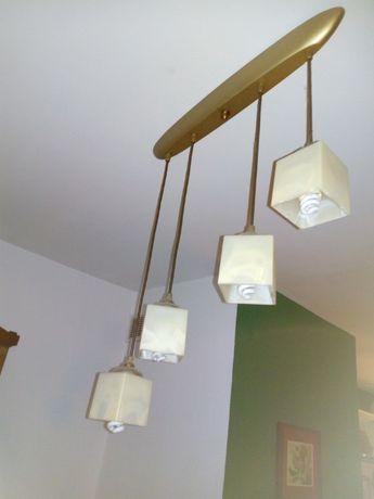 lampa sufitowa + żarówki energooszczędne
