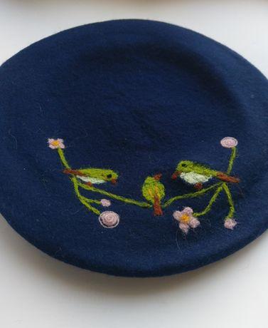 Фетровий берет шапка шерсть