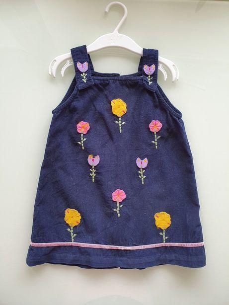 Ładna sukienka w kwiatki 86 cm!