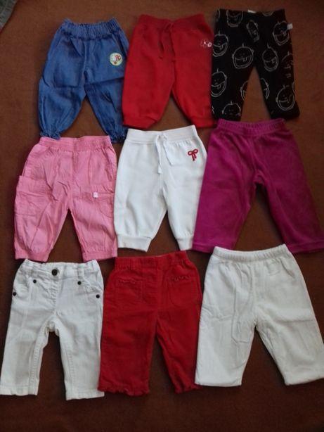 Spodnie dziewczęce roz. 68