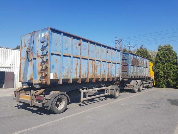 Usługi Hakowiec, transport kontenerów hakowych, odpady, zrębki, bdo