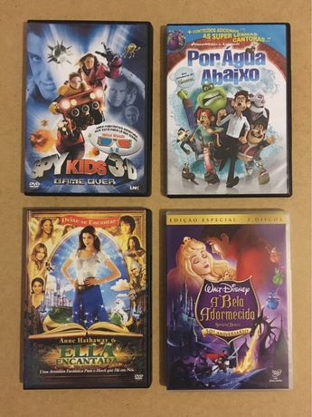 DVDs variados Disney, Dreamworks e Miramax