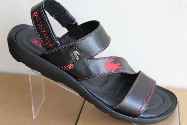 Lacoste— сандалии сандали босоножки сабо шлёпанцы(19-2чер.кожа)