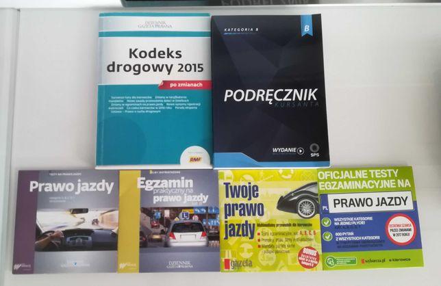 Prawo jazdy podręcznik testy egzaminy płyty kodeks drogowy